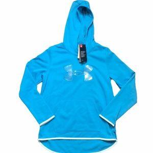 Under Armour Light Blue Girls Athletic Hoodie-SZ L
